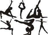 体操和健身 — 图库矢量图片