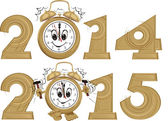 New year`s clock — Stock Vector