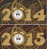 New year background - 2014, 2015 — 图库矢量图片