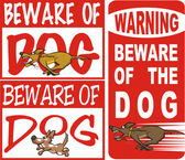 Beware of dog — Stock Vector