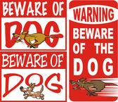 Beware of dog — Stock Vector