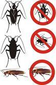 Cockroach - warning signs — Wektor stockowy