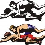 ������, ������: Fighting wrestlers
