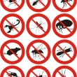 Pests icon — Stock Vector #25739223