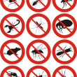 Stock Vector: Pests icon