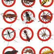 Stock Vector: Pests icon - color