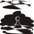 Chess pawn — Vector de stock #33474491