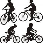 Bike, cycle, bicylist - icon — Stock Vector #34463131