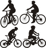 Bike, cycle, bicylist - icon — Stock Vector