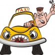 Taxi driver - road rage — Stock Vector