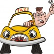 Taxi driver - road rage — Stock Vector #41469801