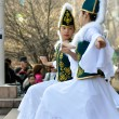 Stock Photo: Kazakh dancers in national clothes