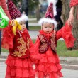 Kazakh children in national clothes — Stock Photo