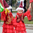 Stock Photo: Kazakh children in national clothes
