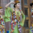 Stock Photo: Uzbek dancers in national clothes