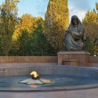 Stock Photo: World War 2 Memorial and Eternity Light in Tashkent