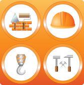 Configurar la señal de la construcción — Vector de stock