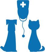 Symbol of veterinary medicine — Stock Vector
