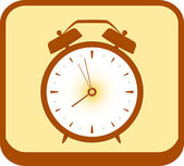 Button with alarm clock — Vector de stock