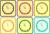 Set colorful clock — Stock Vector