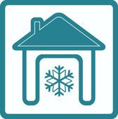 Conditioner in home symbol — Stock Vector