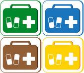 Medyczne symbol portfolio i tabletki — Wektor stockowy