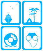Set background for travel services — Stock Vector