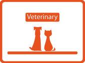 Veterinärmedicinska bakgrund med husdjur — Stockvektor