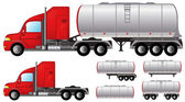 Set tank truck and fuel tanks — Stock Vector