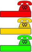 Set of taxi phone for call cab — Stock Vector