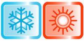 Icônes pour la catégorie des climatiseurs — Vecteur
