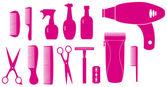 Geïsoleerde objecten voor barbershop — Stockvector