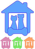 Icon with home pet — Stock Vector