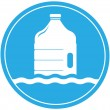Drinking water symbol with bottle — Stock Vector #29940811