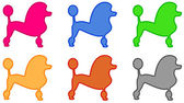 Colorful poodle icon — Stock Vector