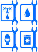 Icons for plumbing repair — Stock Vector