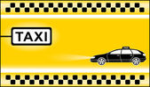 Yellow modern taxi background — Vecteur