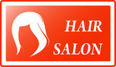 Red hair salon background — Vector de stock