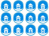 Set icons for web site design — Stock Vector