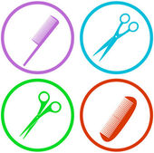 Hair salon tools set — Stock Vector