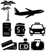 Isolated objects for travel — Stock Vector