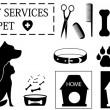 Veterinary objects for pet care — Stock Vector #39912739