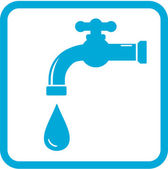 Icon with tap. water symbol — Stock Vector