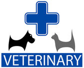 Veterinary symbol with isolated pet — ストックベクタ
