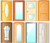 Modern door collection for home interior — Stock Vector