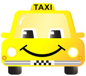 Cartoon smiling taxi car — Stock Vector