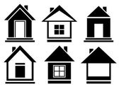Vector collection house icons — Stock Vector