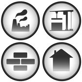 Construction set with industrial icons — Stock Vector