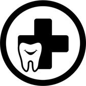 Dental icon with smile tooth — Vecteur