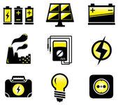 Set electrical equipment — Stock Vector